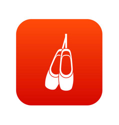 pointe shoes icon digital red vector image