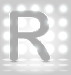 R over lighted background vector image vector image