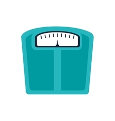 scale fitness healthy lifestyle icon vector image