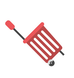 silhouette color with shopping basket with wheels vector image vector image