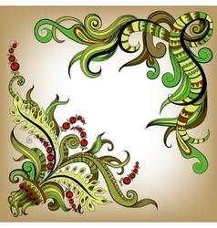 Sketchy doodles decorative color outline vector image vector image