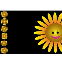 Smiling sunflower vector image vector image