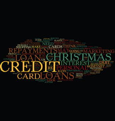 The myth of the christmas loan text background vector