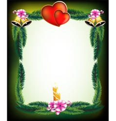 Valentines Day original holiday frame vector image vector image