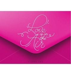 Valentines envelope pink vector image vector image