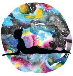 Women silhouettesphinx yoga pose salamba vector
