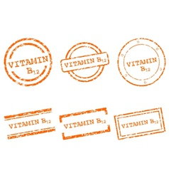 Vitamin B12 stamps vector image