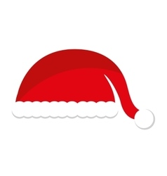 Christmas hat decoration isolated icon vector