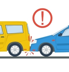 Car accident flat isolated vector image