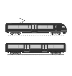 High speed train silhouette vector