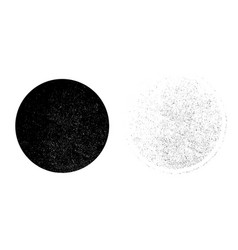 Grunge monochrome circle background abstract vector