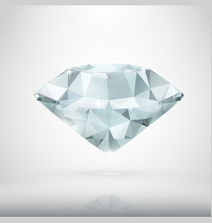 realistic diamond isolated on white vector image