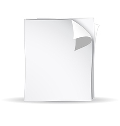 3d white papers vector image