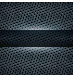 Dark blue metal background for your design vector