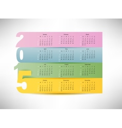 calendar for 2015 vector image