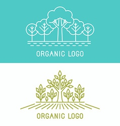 Trees and parks logo design elements vector