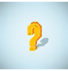 Retro question mark symbol style 8 bit vector
