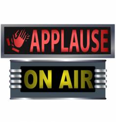 on air and applause sign vector image