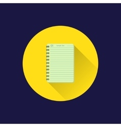 Flat notebook icon vector