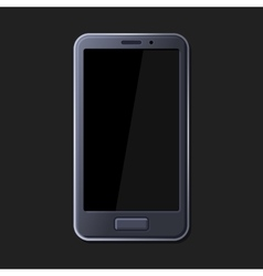 Realistic smart phone on dark background vector