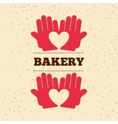Bakery products design vector