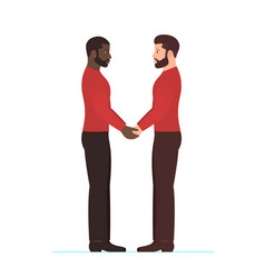 afro american man and white man multiracial gay vector image vector image