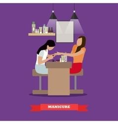 Beauty salon concept banners women in vector
