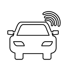 Car with gps service vector