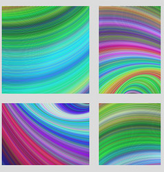 Colorful curved digital page background set vector