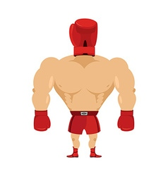 Crazy Boxer Boxing Glove on his head Glove man vector image