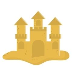 Cute sandcastle icon vector
