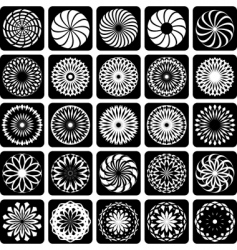 design elements patterns set vector image vector image