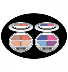 eye shadows vector image vector image