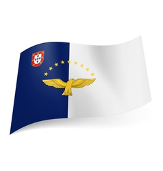 Flag of azores vector