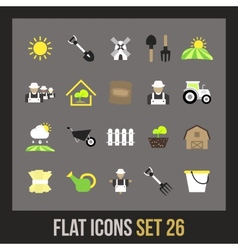 Flat icons set 26 vector image