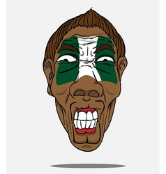 football fan from Nigeria vector image vector image