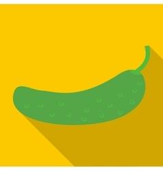 Fresh cucumber icon flat style vector image