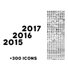 From 2016 To 2017 Years Icon vector image vector image