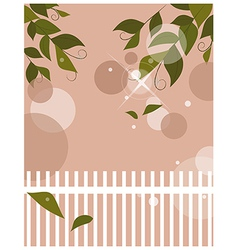 Garden Fence Background vector image vector image
