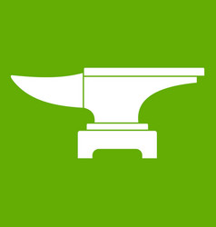 Heavy black metal anvil icon green vector