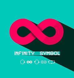 Infinity Symbol - Retro vector image