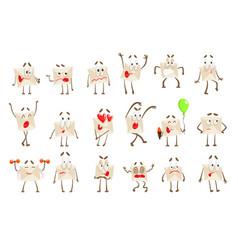 Letter paper envelop cartoon character emotion vector