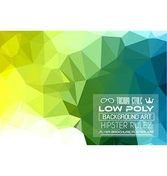 Low poly trangular trendy hipster background vector