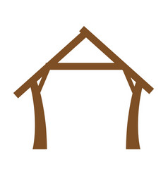 manger house icon vector image