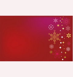 Red classic christmas background vector