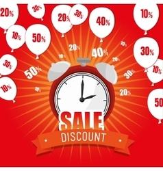 Sale discount clock alarm balloons offer vector