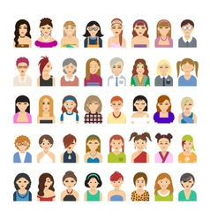 Set of flat people icons vector image vector image