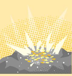 treasure in rock vector image