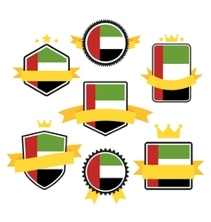 World flags series flag of united arab emirates vector