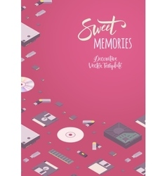 Sweet memories decorating design vector